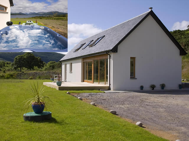 Seabank Lodge self catering by Loch Creran Benderloch near Oban